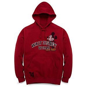 Walt Disney World Resort Mickey Mouse Hoodie in a Bag for Men -- Red