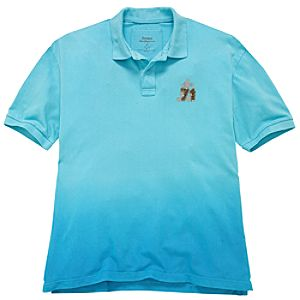 Dip Dye Walt Disney World Polo for Men -- Blue