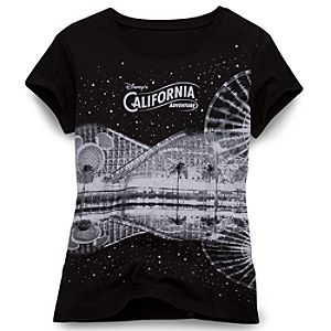 Glitter Disneys California Adventure Park Tee for Women