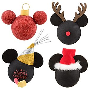 Holiday Mickey Mouse Antenna Topper Set -- 4-Pc.