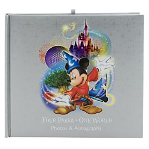 Four Parks, One World Deluxe Walt Disney World Resort Autograph Book and Photo Album