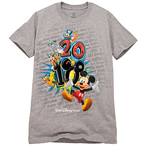 2010 Walt Disney World Resort Tour Tee for Men -- Gray