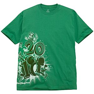 2010 Walt Disney World Resort Tour Tee for Men -- Green