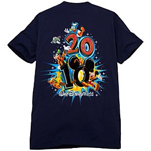 2010 Walt Disney World Resort Tee for Men -- Navy