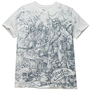 Sketch Art Pirates of the Caribbean Tee for Adults