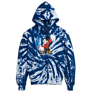 Four Parks, One World Walt Disney World Resort Tie-Dye Fleece Hoodie for Men