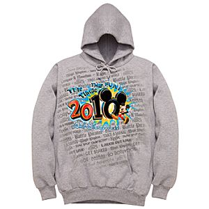 2010 Walt Disney World Resort Tour Hoodie Sweatshirt for Men