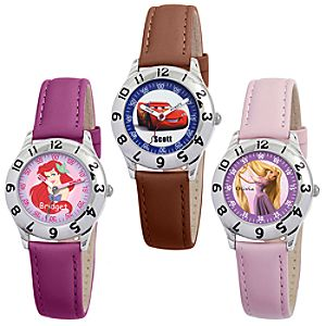 Customized Time Teacher Watch with Leather Strap for Kids