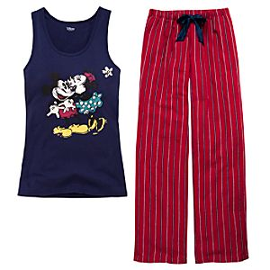 Mickey and Minnie Mouse Sleep Set for Women -- 2-Pc.