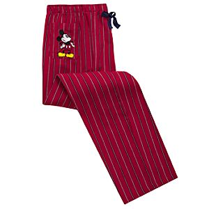 Striped Mickey Mouse Lounge Pants for Men