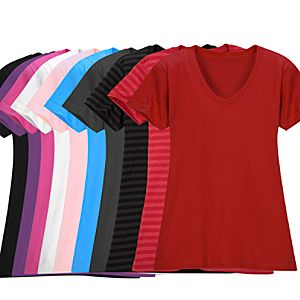 Customized Womens Vee-Neck Tee