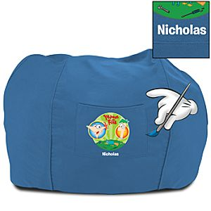 Personalized Phineas and Ferb Bean Bag Chair for Kids