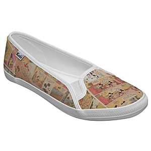 Customized Womens Color Comics Mickey Mouse Keds Slip On