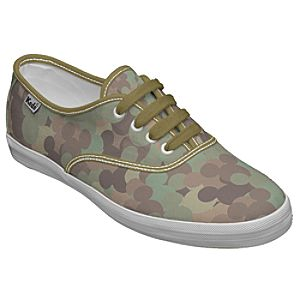 Customized Womens Camo Mickey Mouse Keds