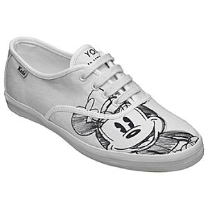 Customized Womens Sketch Art Minnie Mouse Keds