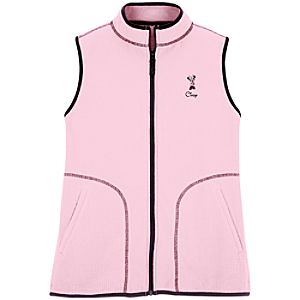 Personalized Fleece Minnie Mouse Vest for Women