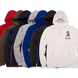 Personalized Zip Mickey Mouse Hoodie for Men