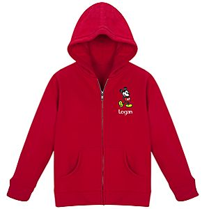 Personalized Zip Mickey Mouse Hoodie for Kids