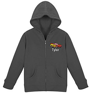 Personalized Zip Lightning McQueen Hoodie for Kids