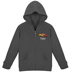 Personalized Zip Lightning McQueen Hoodie for Kids