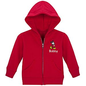 Personalized Zip Mickey Mouse Hoodie for Infants and Toddlers