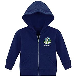 Personalized Zip Buzz Lightyear Hoodie for Infants and Toddlers