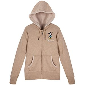 Personalized Sherpa-Lined Minnie Mouse Hoodie for Women