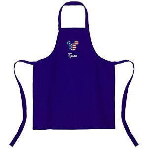 Personalized Flag Mickey Mouse Apron for Kids