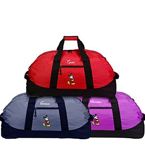 Personalized Rolling Mickey Mouse Duffel Bag