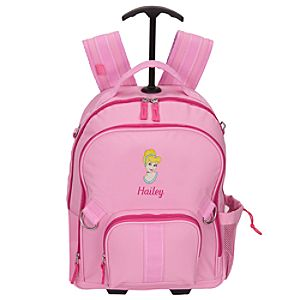 Personalized Cinderella Rolling Backpack