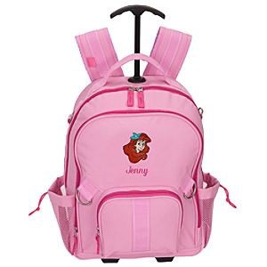 Personalized Ariel Rolling Backpack