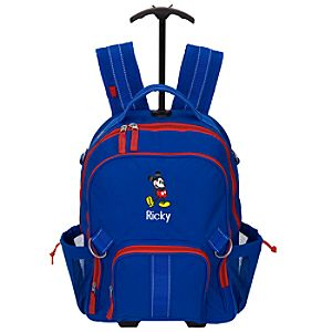 Personalized Mickey Mouse Rolling Backpack