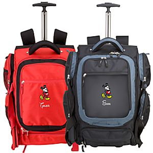 Personalized Mickey Mouse Rolling Backpack -- Large