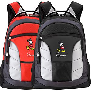 Personalized Mickey Mouse Backpack -- Large