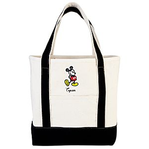 Personalized Canvas Mickey Mouse Tote