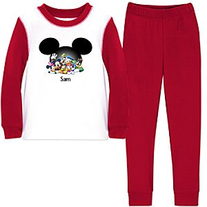 Personalized Mickey Mouse PJ Pal for Boys