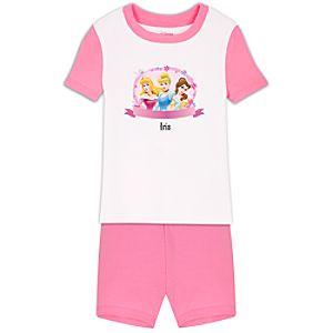Personalized Short Disney Princess PJ Pal for Girls