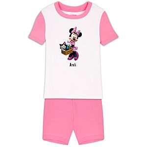 Personalized Short Minnie Mouse PJ Pal for Girls