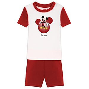 Personalized Short Mickey Mouse PJ Pal for Boys