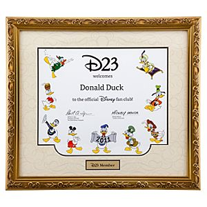 D23 Membership Certificate Frame - D23 Membership Exclusive
