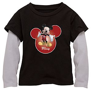 Double-Up Long-Sleeved Mickey Mouse Tee
