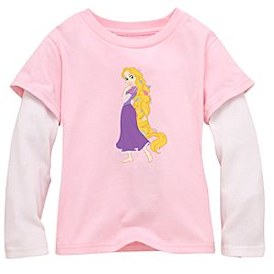 Double-Up Long-Sleeved Rapunzel Tee for Girls