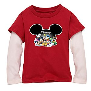 Double-Up Long-Sleeved Mickey and Friends Tee