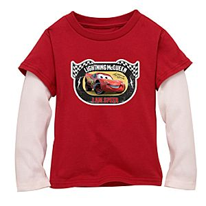 Double-Up Long-Sleeved Red Lightning McQueen Tee for Boys