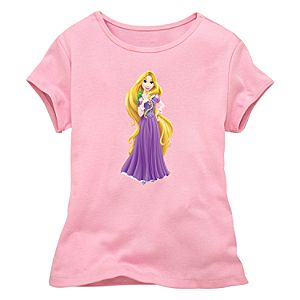 Fitted Pink Baby Doll Rapunzel Tee for Girls