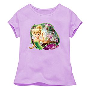 Fitted Lavender Baby Doll Tinker Bell Tee for Girls