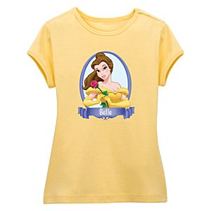 Fitted Yellow Baby Doll Belle Tee for Girls