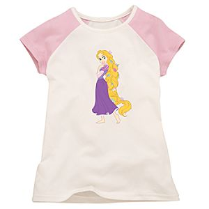Pink and White Rapunzel Tee for Girls