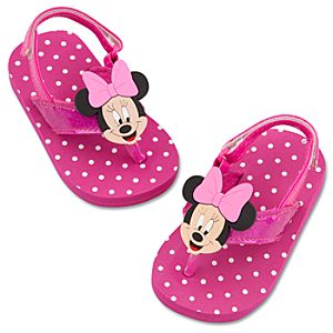 Minnie Mouse Flip Flops for Baby Girls