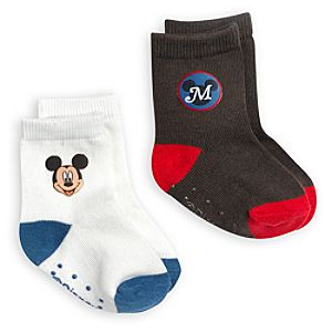 Mickey Mouse Sock Set for Baby - 2-Pack